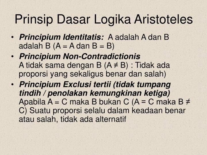 Prinsip Dasar Logika Aristoteles