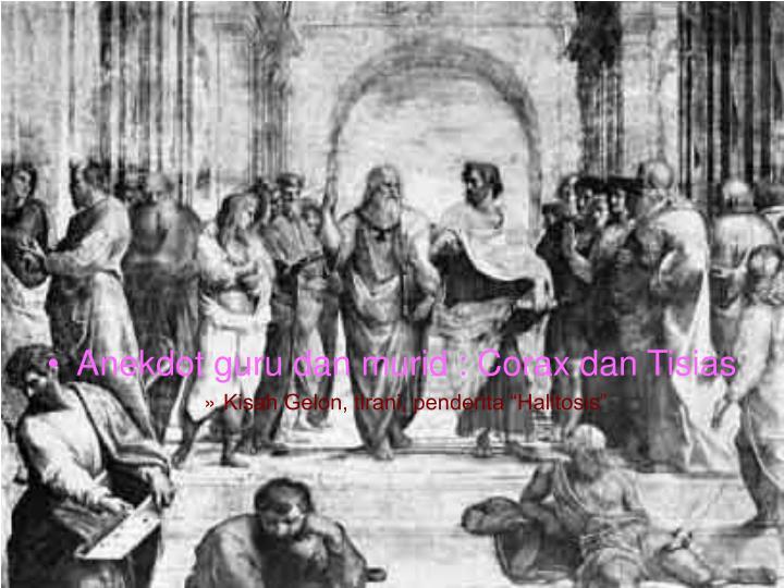 Anekdot guru dan murid : Corax dan Tisias