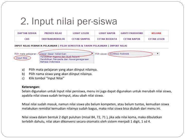 2. Input