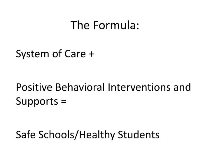 The Formula: