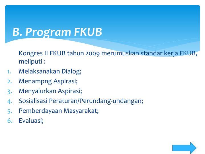 B. Program FKUB