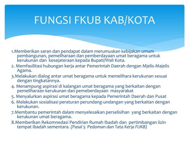 FUNGSI FKUB KAB/KOTA