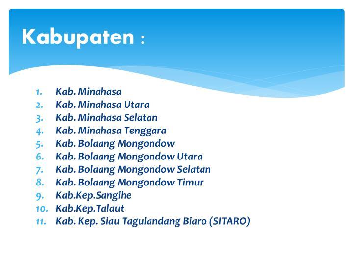 Kabupaten :