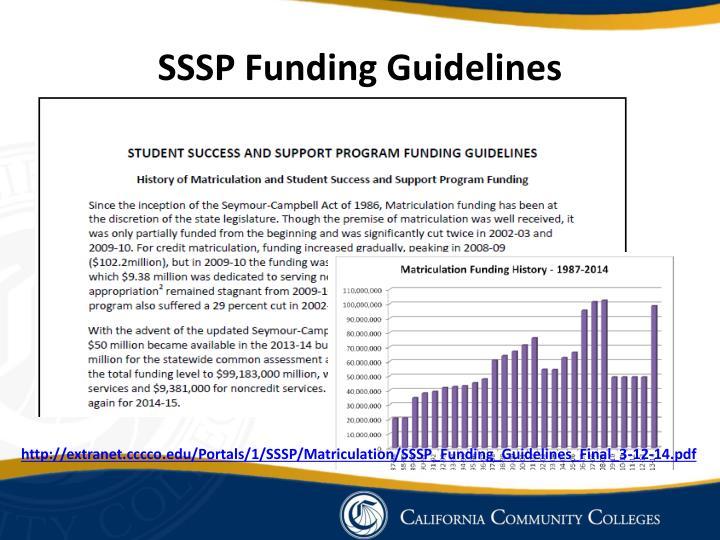 SSSP Funding Guidelines