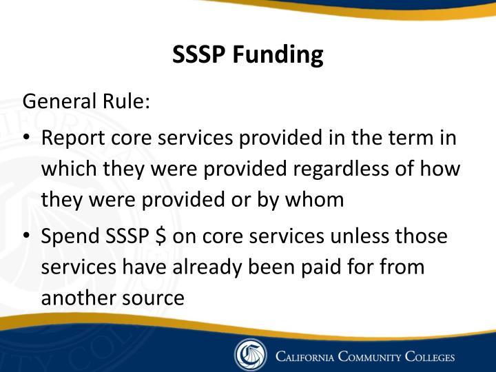 SSSP Funding