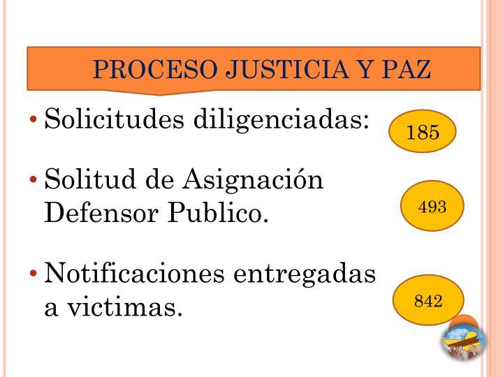 PROCESO JUSTICIA Y PAZ