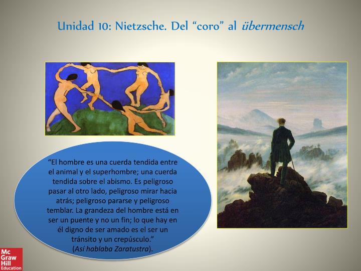 """Unidad 10: Nietzsche. Del """"coro"""" al"""