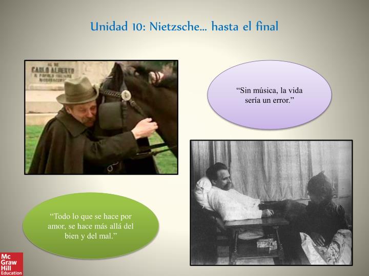 Unidad 10: Nietzsche… hasta el final