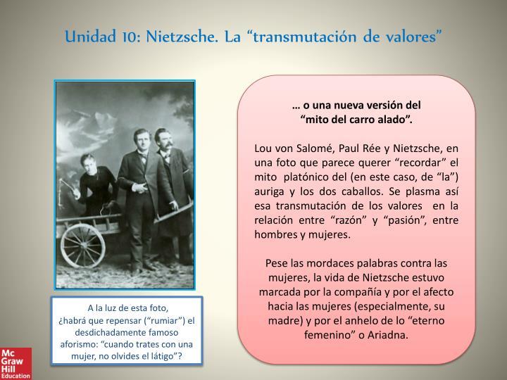"""Unidad 10: Nietzsche. La """"transmutación de valores"""""""