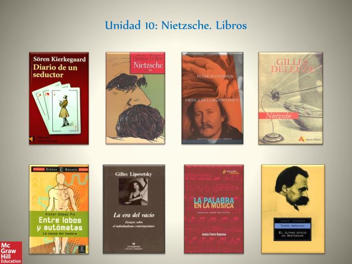 Unidad 10: Nietzsche. Libros