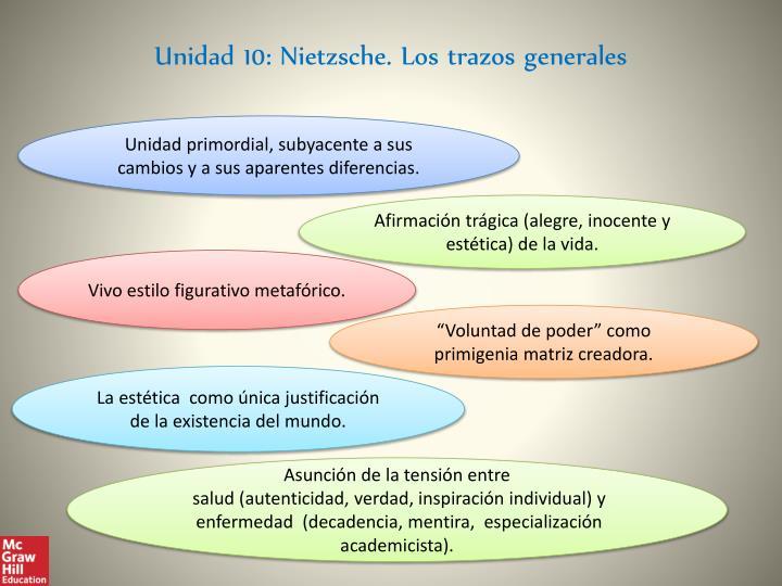 Unidad 10: Nietzsche. Los trazos generales