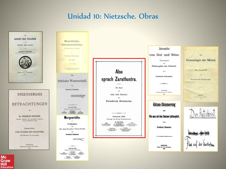 Unidad 10: Nietzsche. Obras