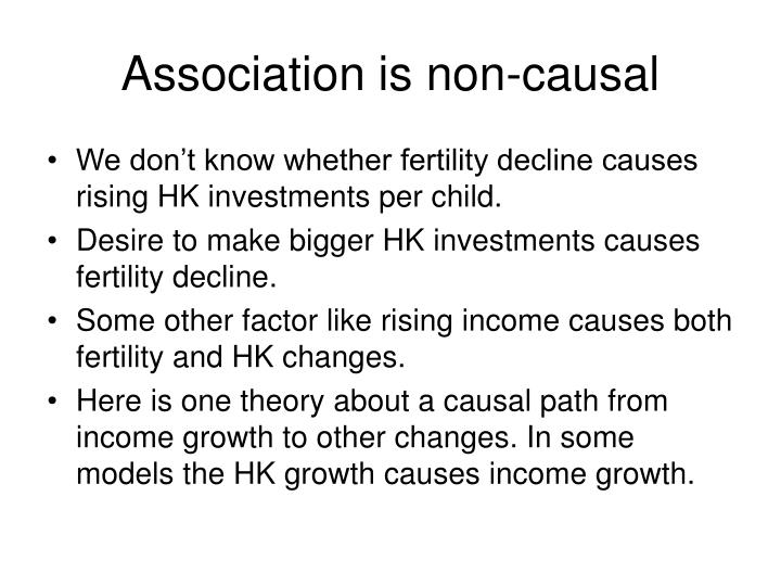 Association is non-causal