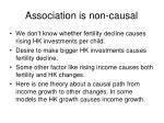 association is non causal