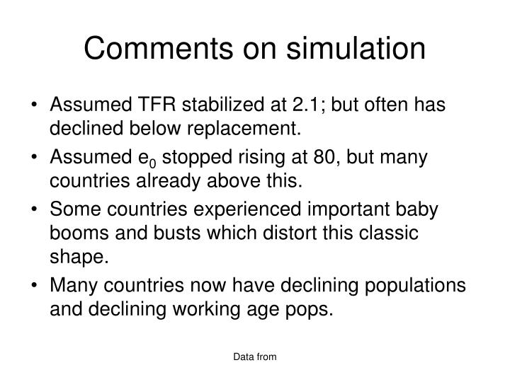 Comments on simulation