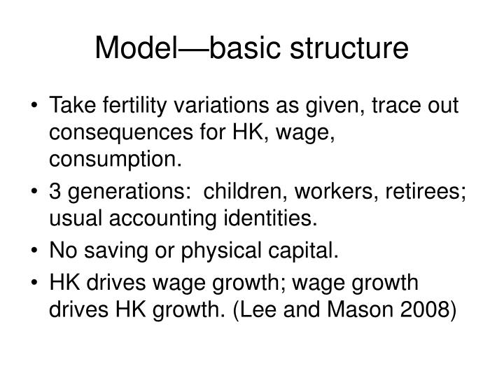 Model—basic structure