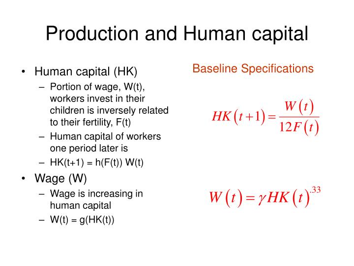 Production and Human capital
