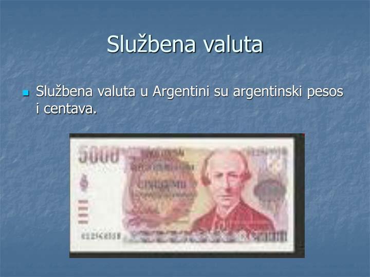 Službena valuta