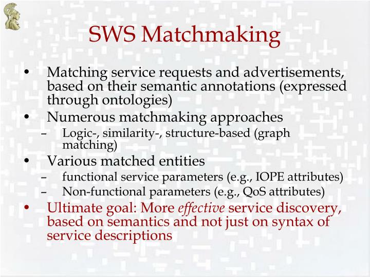 Sws matchmaking