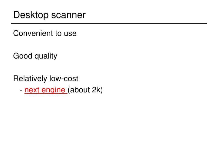 Desktop scanner