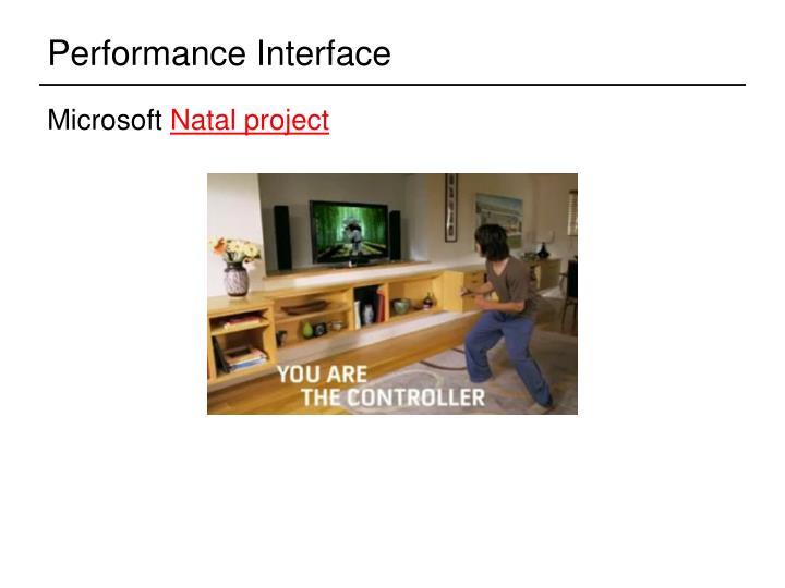Performance Interface