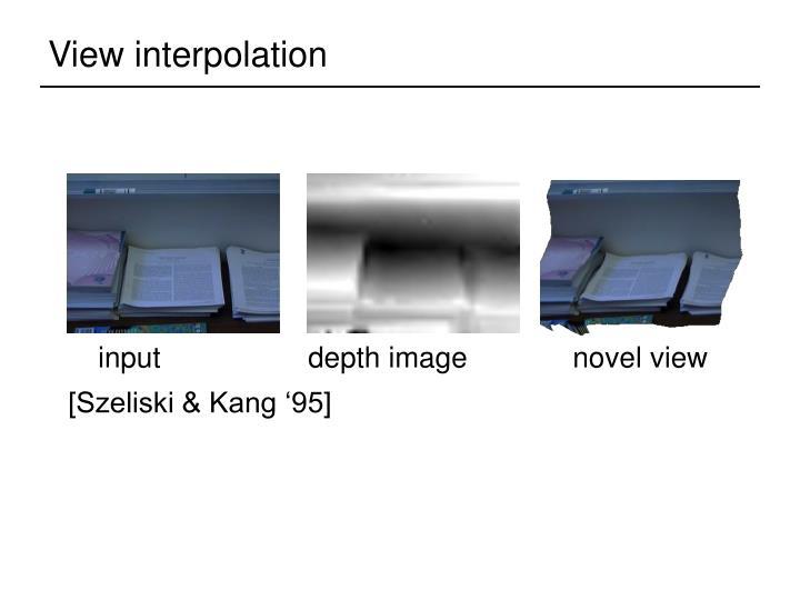 View interpolation