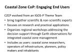 coastal zone cop engaging end users