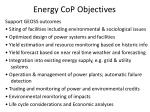 energy cop objectives