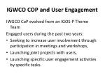 igwco cop and user engagement
