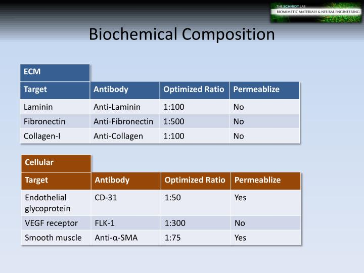 Biochemical Composition