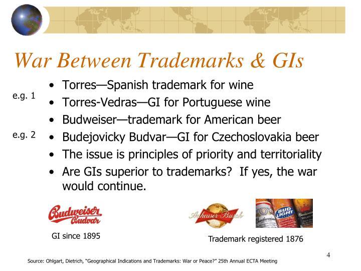 War Between Trademarks & GIs
