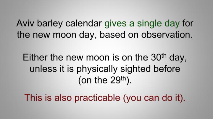 Aviv barley calendar