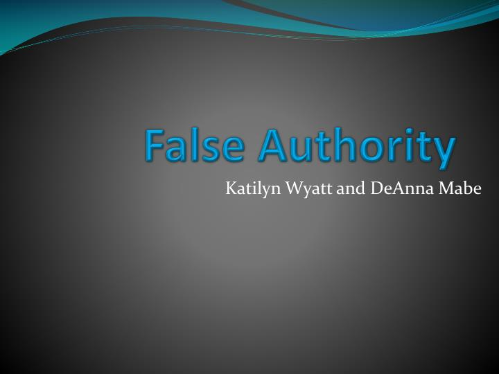 False authority