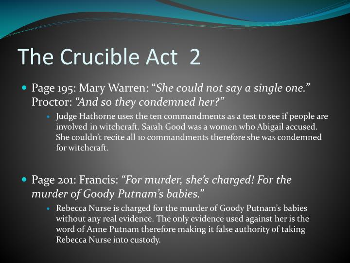 The Crucible Act  2