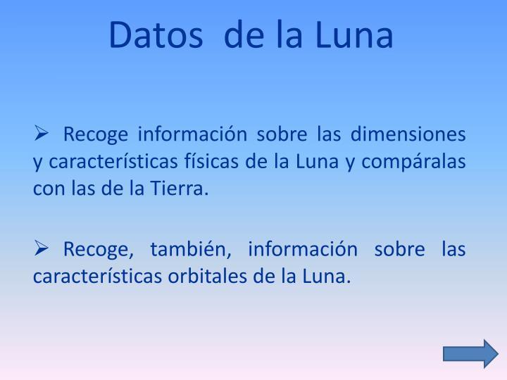 Datos  de la Luna