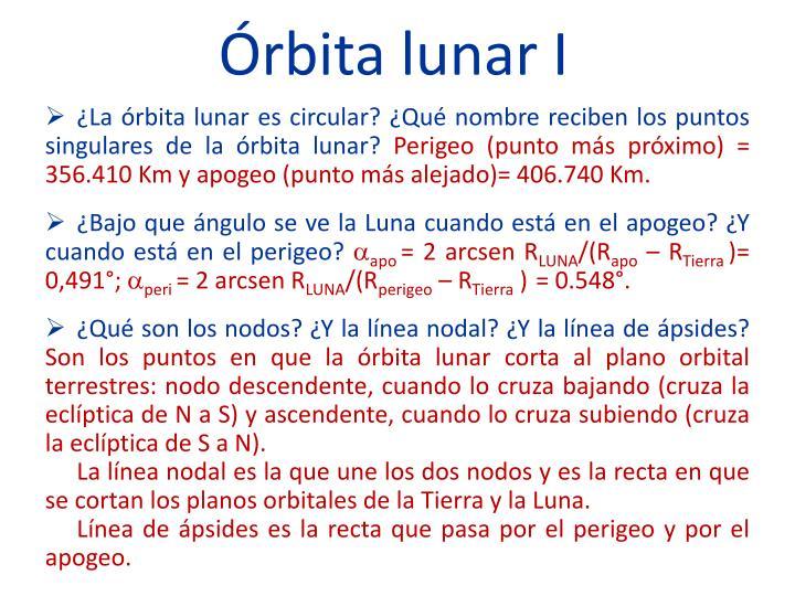 Órbita lunar I