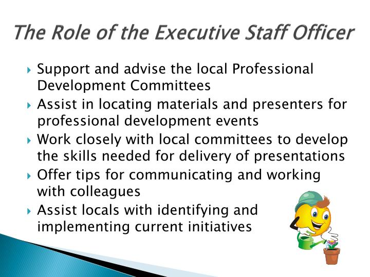The Role of the Executive Staff Officer