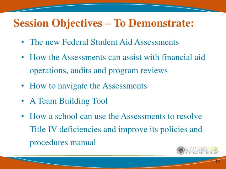Session Objectives – To Demonstrate:
