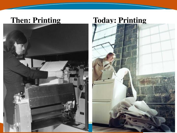 Then: Printing      Today: Printing