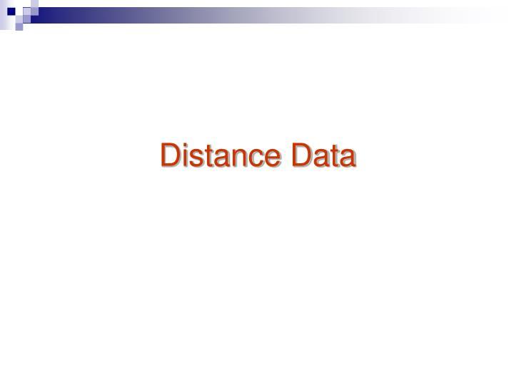 Distance Data