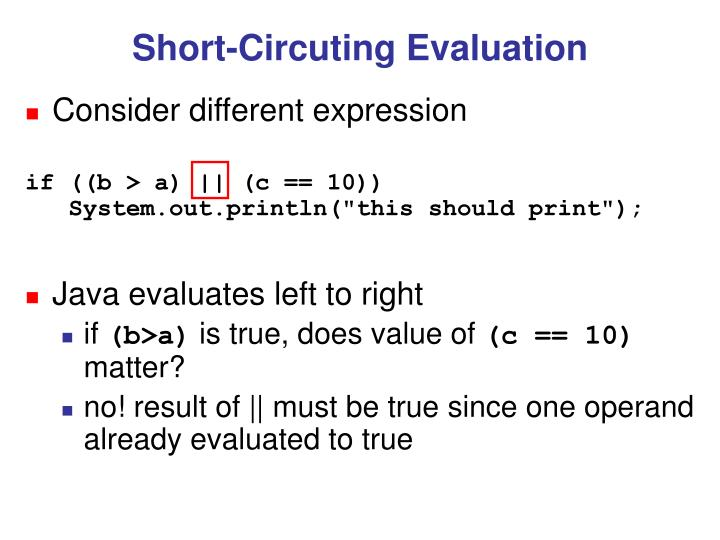 Short-Circuting Evaluation