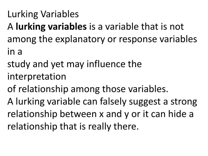 Lurking Variables