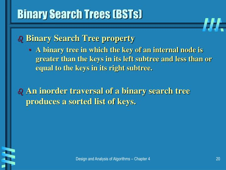Binary Search Trees (BSTs)