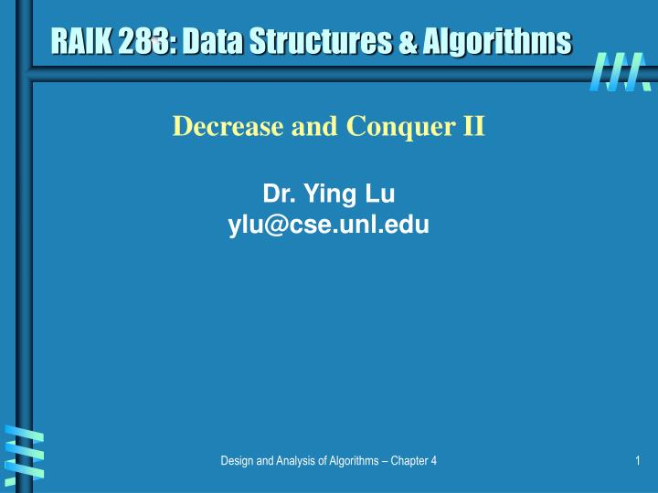 Raik 283 data structures algorithms