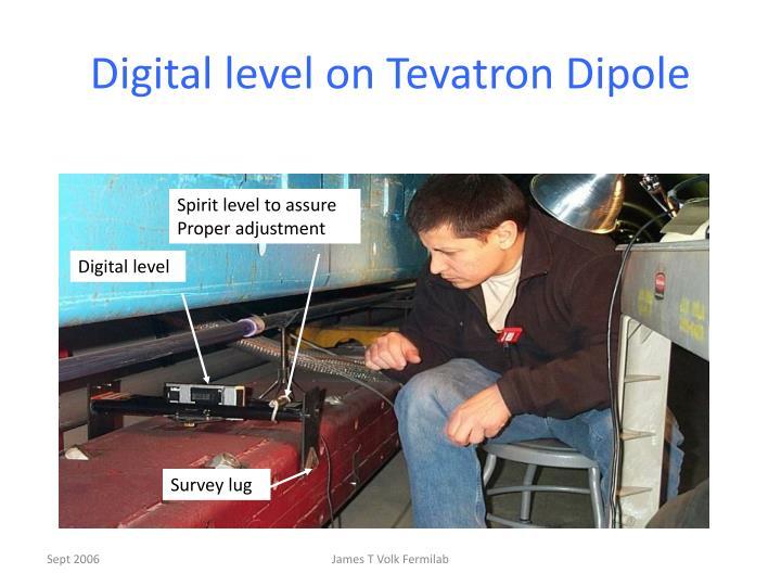 Digital level on Tevatron Dipole