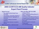 2008 ccort ccs ami quality indicator expert panel process