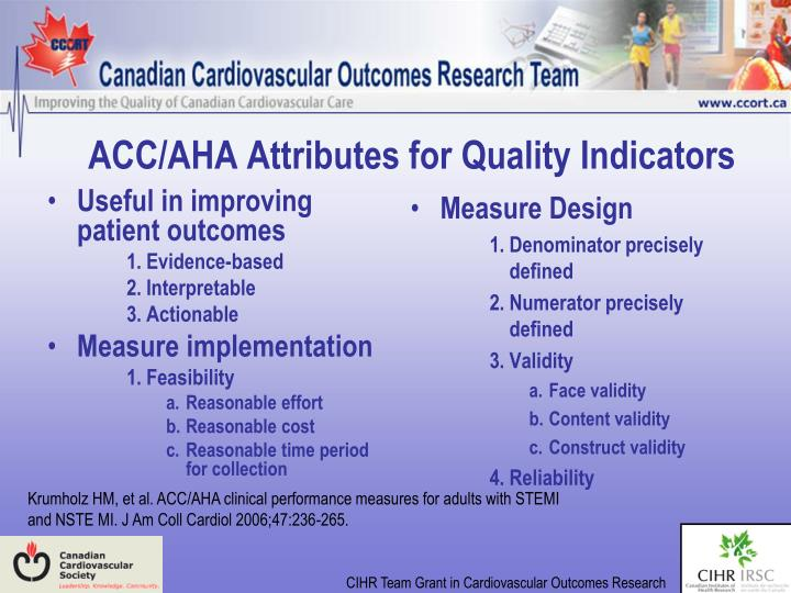 Useful in improving patient outcomes