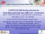 ccort ccs 2008 quality indicators for acute myocardial infarction ami care introduction