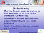 the practice gap