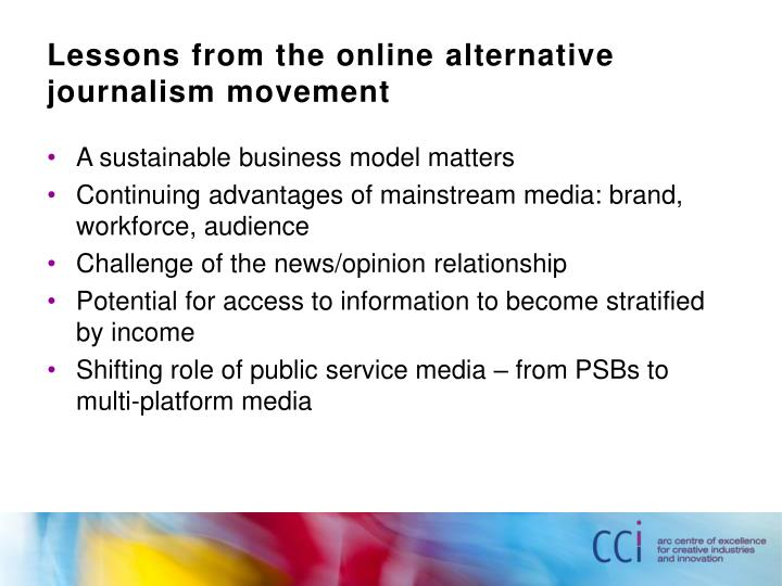 Lessons from the online alternative journalism movement